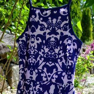 Indigo Dress with Full Skirt